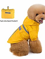 cheap -dog raincoats, packable waterproof rain jacket hooded pet coat for small dogs