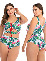 cheap -Women's One Piece Swimsuit Elastane Swimwear UV Sun Protection Breathable Quick Dry Sleeveless Swimming Water Sports 3D Print Summer / Stretchy