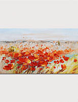 cheap -Hand Painted Canvas Oil Painting Abstract Flowers Home Decoration Modern Wall Art With Frame Painting Ready To Hang With Stretched Frame