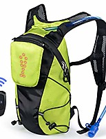 cheap -led turn signal backpack light reflective vest 18l capacity outdoor sports bag flashing warning lamp security pack with 1l bladder bag & wireless remote control for safety cycling (green)