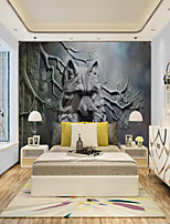 cheap -ACustom Self Adhesive Mural Wallpaper Art Wolf Suitable For Bedroom Living Room Coffee Shop Restaurant Hotel Wall Decoration Art Wall Cloth Room Wallcovering