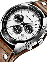 cheap -BEN NEVIS Men's Sport Watch Quartz Sporty Stylish Casual Water Resistant / Waterproof Genuine Leather Brown Analog - White Black