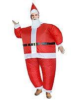 cheap -Santa Claus Cosplay Costume Inflatable Costume Funny Costume Kid's Adults' Men's Cosplay Halloween Halloween Festival / Holiday Fabric Red Men's Women's Easy Carnival Costumes