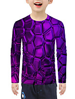 cheap -Kids Boys' Active Basic 3D Print Long Sleeve Blouse Purple