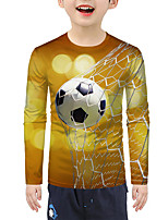 cheap -Kids Boys' Active Basic 3D Print Long Sleeve Blouse Yellow