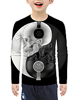 cheap -Kids Boys' Active Basic 3D Print Long Sleeve Blouse Black