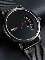 cheap -YAZOLE Men's Sport Watch Quartz Sporty Stylish Casual Water Resistant / Waterproof Stainless Steel Black Analog - Digital - Black Red