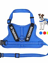 cheap -training dog harness, soft breathable mesh dog vest harness - adjustable 3m reflective outdoor pet vest with 2 removable patches for small medium and large dogs