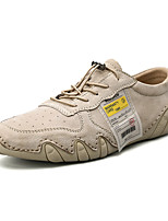 cheap -Men's Summer Casual Daily Oxfords PU Non-slipping Light Brown / Gray