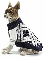 cheap -dog sweater cold weather coats winter dog apparel dog knitwear clothing (yellow)