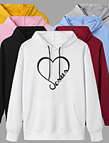 cheap -Women's Hoodie Artistic Style Hoodie Heart Sport Athleisure Pullover Long Sleeve Warm Soft Oversized Comfortable Everyday Use Exercising General Use