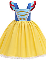 cheap -Princess Dress Girls' Movie Cosplay Vacation Dress Halloween Blue Dress Halloween Carnival Masquerade Polyester / Cotton