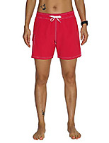cheap -women's surf shorts quick dry solid summer beach mesh lining red 2xl