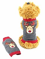 cheap -dog ugly christmas sweater pet xmas reindeer costume christmas holiday cat knitted design & # 40; XXL& #41;