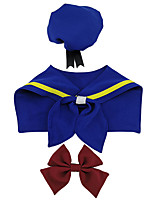 cheap -Dog Halloween Costumes Costume Bandanas & Hats Sailor Casual / Daily Cute Christmas Party Dog Clothes Breathable Blue Costume Polyster S L