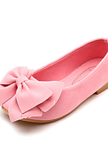 cheap -Girls' Flats Comfort / Ballerina PU Little Kids(4-7ys) / Big Kids(7years +) Walking Shoes Black / Yellow / Fuchsia Summer / Fall