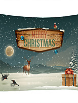 cheap -Christmas Weihnachten Santa Claus Wall Tapestry Art Decor Blanket Curtain Picnic Tablecloth Hanging Home Bedroom Living Room Dorm Decoration Moon Night Gift Snow Elk Polyester