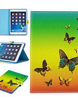 cheap -Case For Apple iPad Mini 3 2 1 iPad Mini 4 iPad Mini 5 Card Holder Shockproof Pattern Full Body Cases Animal PU Leather TPU Auto Sleep Wake Up magnetic buckle butterfly