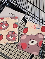 cheap -Case For Apple iPad  iPad Pro 10.5 Ipad air3 10.5 2019 with Stand Flip Full Body Cases PU Leather TPU Protective Stand Cover Pattern bear cute stars lovely  strawberry Word Phrase flower rabbit