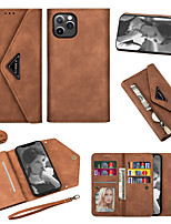 cheap -Case For Apple iPhone 7 7P iPhone 8 8P iPhone X iPhone XS XR XS max iPhone 11 11 Pro 11 Pro Max iPhoneSE (2020) Wallet Card Holder Full Body Cases Solid Colored PU Leather