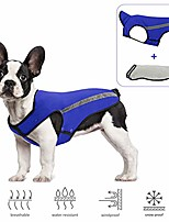 cheap -dog winter jacket, detachable flannel lining dog coat adjustable neck and chest size pet vest with reflective stripe windproof snowsuit keep warm for small medium large dogs (blue)