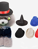 cheap -Dog Bandanas & Hats Solid Colored Cute Cool Christmas Party Dog Clothes Breathable Black Red Blue Costume Nylon