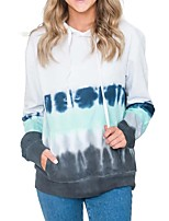 cheap -Women's Daily Pullover Hoodie Sweatshirt Tie Dye Basic Hoodies Sweatshirts  Cotton Loose Oversized Blue Yellow Blushing Pink