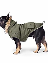 "cheap -dog parka | sherpa-lined hooded dog coat, army green, 26 (25-27"" back length)"