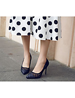 cheap -Women's Heels Stiletto Heel Pointed Toe Sexy Daily Lace Polka Dot Lace Walking Shoes Almond / Black