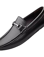cheap -Men's Spring / Fall Outdoor Loafers & Slip-Ons Sheepskin Black / Brown