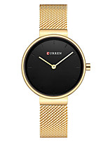 cheap -CURREN Women's Quartz Watches Quartz Modern Style Stylish Pearls Water Resistant / Waterproof Stainless Steel Black / Blue / Silver Analog - Rose Gold Silver+Gray Golden+White One Year Battery Life