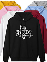 cheap -Women's Hoodie Streetwear Hoodie Letter Printed Sport Athleisure Pullover Long Sleeve Warm Soft Oversized Comfortable Everyday Use Exercising General Use