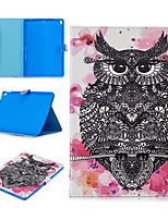 cheap -Case For Apple iPad air 1 air2 air3 pro 10.2 10.5 11 inches  9.7 inches 2019 2018 2017 Card Holder Shockproof Pattern Full Body Cases Animal PU Leather TPU Auto Sleep Wake Up magnetic buckle owl