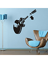 cheap -Guitar Wall Stickers Decorative Wall Stickers, PVC Home Decoration Wall Decal Wall Decoration / Removable