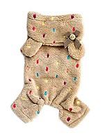 cheap -hot pet dog soft warm pajamas coat polka dot dog hoodie clothes jacket
