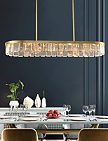 cheap -110 cm Island Design Chandelier Gold Pendant Light Crystal Modern 110-120V 220-240V