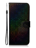 cheap -Case For Samsung Galaxy Galaxy A20S A70S A51 A71 S20 S20 Plus S20 Ultra A81 A91 S10 Lite A01 A21 Card Holder   Flip Full Body Cases Lines  Waves Solid Colored PU Leather