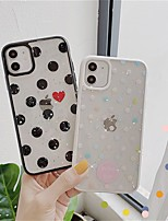 cheap -Case For Apple iPhone SE 2020 iPhone 11 Pro Max XS Max XR X 7 8 Plus 6 6s Plus Transparent Pattern Back Cover Glitter Shine TPU