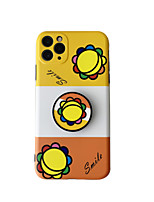 cheap -Case For Apple iPhone 7 plus 8 plus XR XS XS MAX X SE 11 11Pro 11ProMax Pattern Back Cover TPU with Stand  Flower