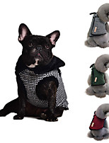 cheap -Dog Coat Sweater Plaid / Check Casual / Daily Cute Casual / Daily Winter Dog Clothes Warm White Red Green Costume Fabric S M L XL XXL