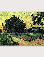 cheap -IARTS Hand Painted Sunset scenery Oil Painting with Stretched Frame For Home Decoration With Stretched Frame