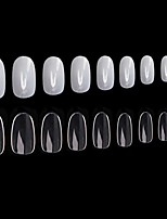 cheap -1200pcs round acrylic nails fake nails tips, 10 sizes, full cover short oval false nails artificial nail art manicure finger nails for nail salon diy nail design practice - clear, natural
