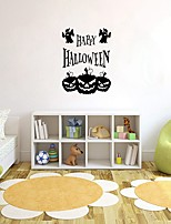 cheap -Happy Halloween Letter Wall Stickers Decorative Wall Stickers, PVC Home Decoration Wall Decal Wall Decoration / Removable