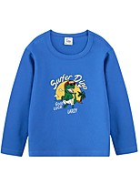 cheap -Kids Boys' Basic Black Blue Red Animal Print Long Sleeve Tee Black