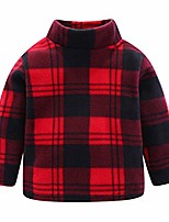 cheap -toddler girl fleece shirt plaid red 4t long sleeve