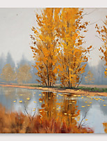 cheap -IARTS®Hand Painted autumn Oil Painting with Stretched Frame For Home Decoration With Stretched Frame