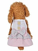 cheap -small dog bow dress cute puppy pet cotton skirt clothes for summer