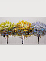 cheap -Hand-Painted Abstract Tree Paintings Canvas Art  Painting Abstract Acrylic Painting Modern Art Textured Art  with Stretcher Ready to Hang With Stretched Frame