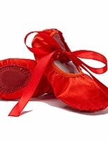 cheap -women's professional ballet dance shoes split sole performa flats with ribbon red 7.5 m us women