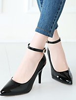 cheap -Women's Heels Stiletto Heel Pointed Toe Minimalism Daily Solid Colored PU Almond / Black / Red